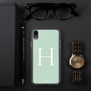 H LIGHT GREEN iPhone Case