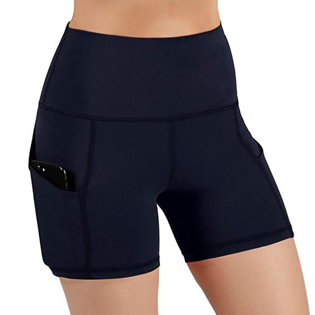High Waist Running Shorts with Pockets