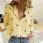 Load image into Gallery viewer, Women's Birds Print Shirt Blouse