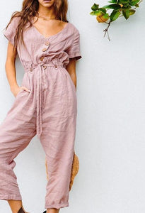 Simple Casual Jumpsuit