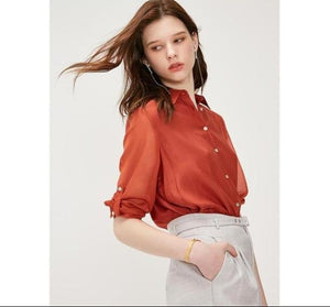 Women's Loose Fit Long-sleeved Shirt