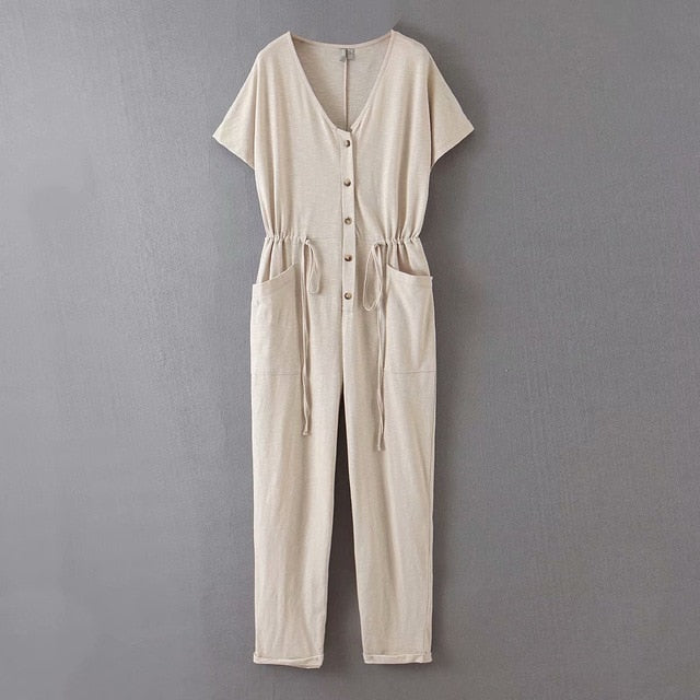 Women's Casual Comfortable Summer Jumpsuit