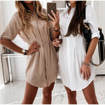 Load image into Gallery viewer, Women's Casual Spring Solid Dress