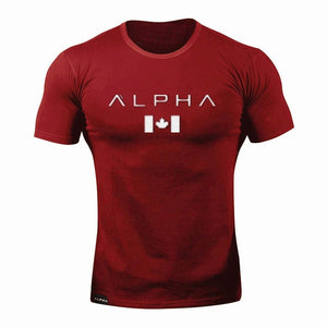 Men's Alpha Usa Gym T-shirt