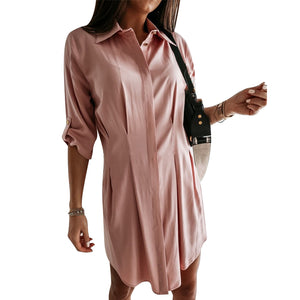 Women's Casual Spring Solid Dress