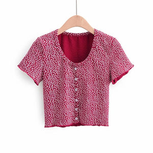 Women's Casual Floral Print Short Sleeve