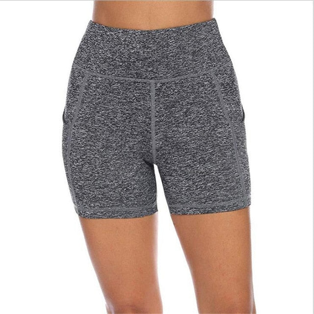 High waist Sports Leggings / Shorts with pocket