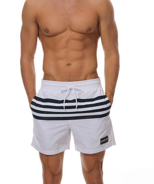 ESCATCH Men's Swim Shorts Stripes