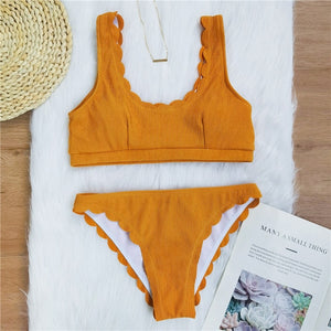 Ribbed Swimsuit Set