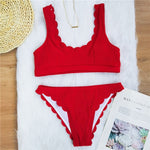 Load image into Gallery viewer, Ribbed Swimsuit Set