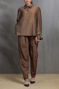 3D Cuff Shirt and Trouser Set