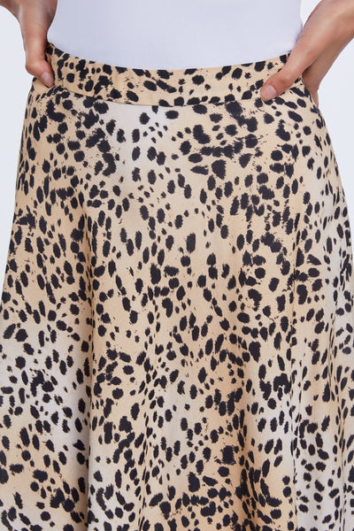Set Back Cheetah print midi skirt 69383