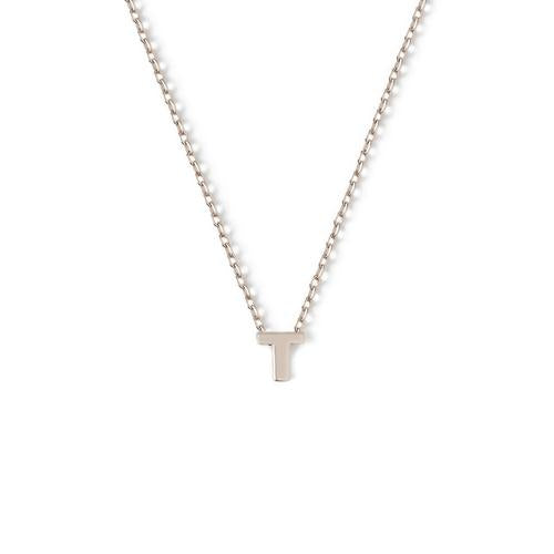 Orelia Initial Necklace in Silver