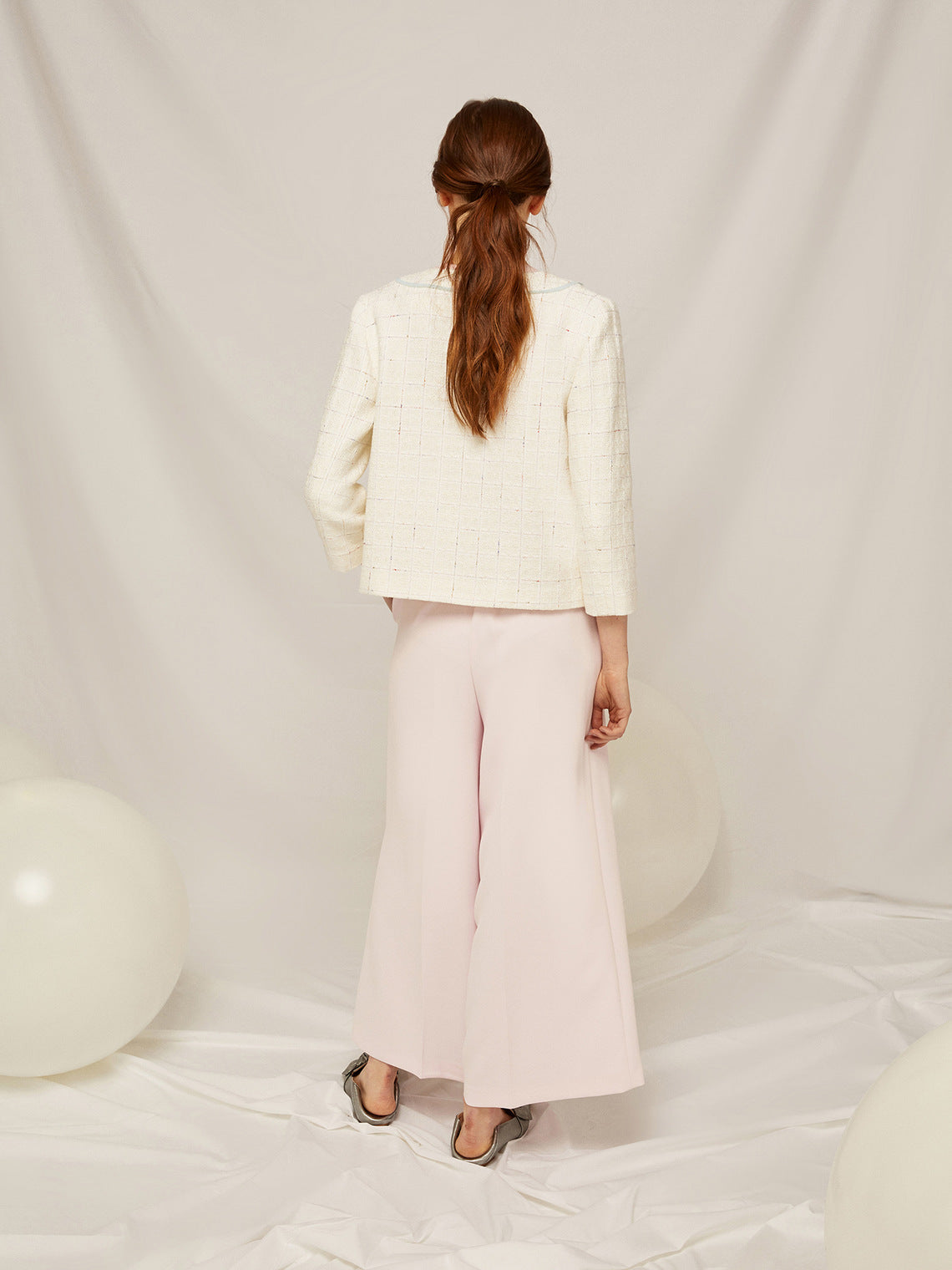 Caractere Wide Leg Cropped Trouser P008A0 093T