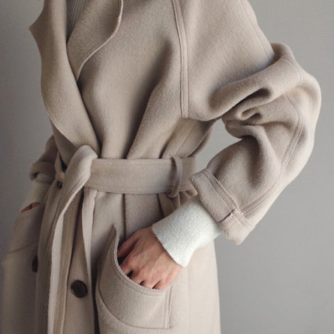 Stylish Two-sided Woollen Overcoat