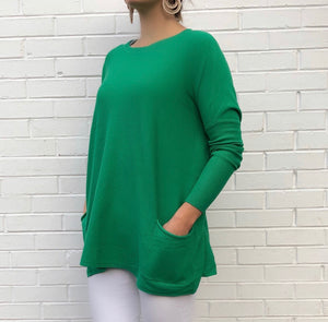 Soft Tunic Pocket Sweater