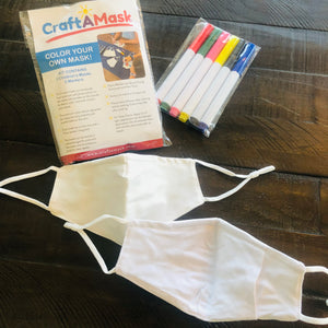 Color Your Own Mask Kit for Kids - 2 masks included