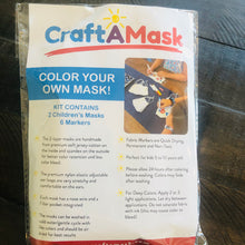Load image into Gallery viewer, Color Your Own Mask Kit for Kids - 2 masks included