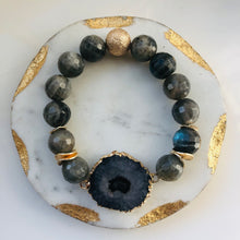 Load image into Gallery viewer, Ash Gray Glass & Stone Set