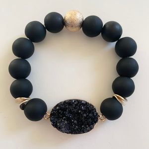 Black Statement Stone Bracelet