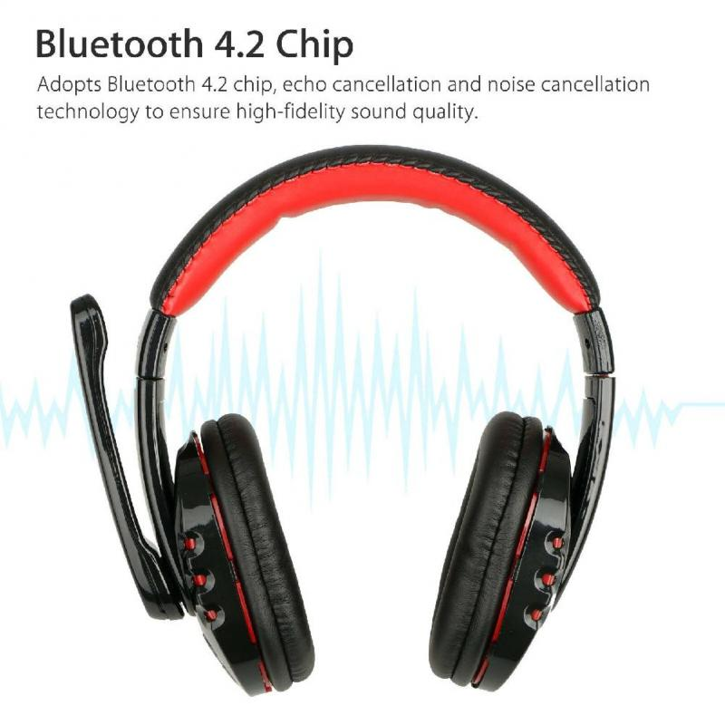 Folding Bluetooth Wireless Gaming Headset with Led Mic - Sam's Gaming Store