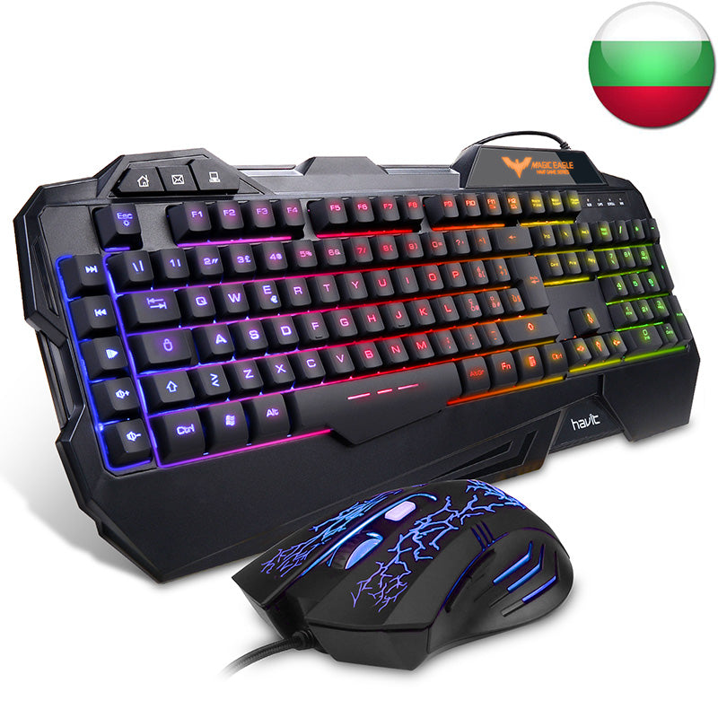 Gaming Keyboard Mouse Combo with Rainbow LED Backlit Keyboard - Sam's Gaming Store