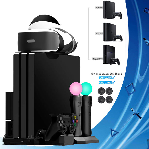 PS4 Pro Slim Vertical Stand with Cooling Fan - Sam's Gaming Store