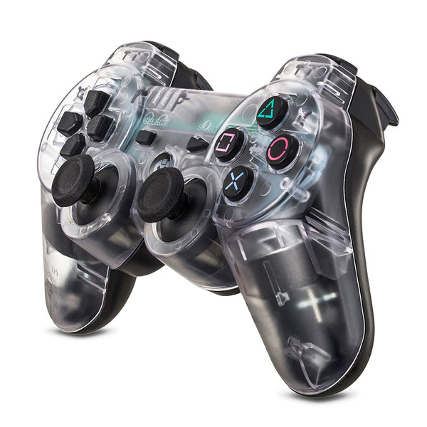 Transparent Wireless PS3 Controller with Anti-Slip Grip and Joystick - Sam's Gaming Store