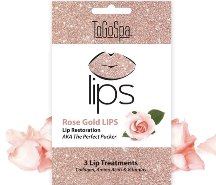 Rose Gold LIPS by ToGoSpa - The Perfect Pucker- 3 Lip Masks - Shop Beauty By Elayne James