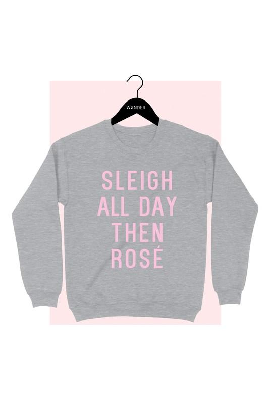 Sleigh All Day Then Rose Crew Neck - Shop Beauty By Elayne James