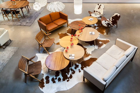 Carl Hansen Los Angeles Showroom CH008 Coffee Tables Aerial View