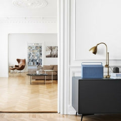 Vifa Copenhagen Speaker in Situ with Egg Chair