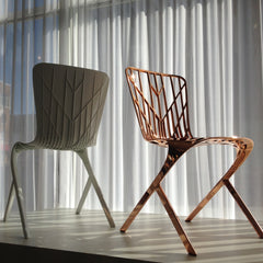 David Adjaye Washington Skeleton Chair Copper Washington Skin Chair White Knoll at Palette and Parlor