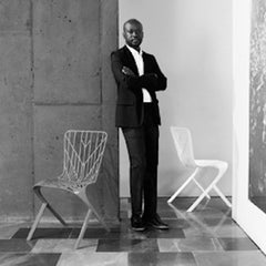 David Adjaye Bio with Washington Skeleton and Skin Chairs