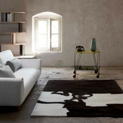 Nani Marquina Eduardo Chillida Rug in Living Room