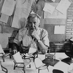 Hans Wegner Bio Picture with Chairs