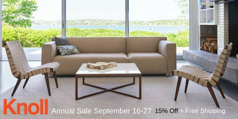 Shop the 2016 Knoll Annual Sale and get a FREE Knoll Lookbook at Palette and Parlor