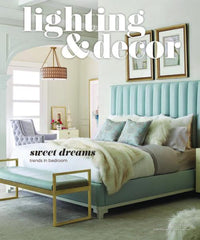 lighting and decor magazine featuring an article on palette and parlor august 2017