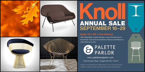 Shop the 2015 Knoll Annual Sale at Palette and Parlor