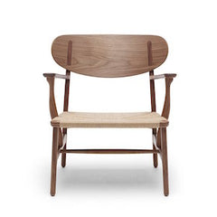 Hans Wegner CH22 Lounge Chair in Walnut