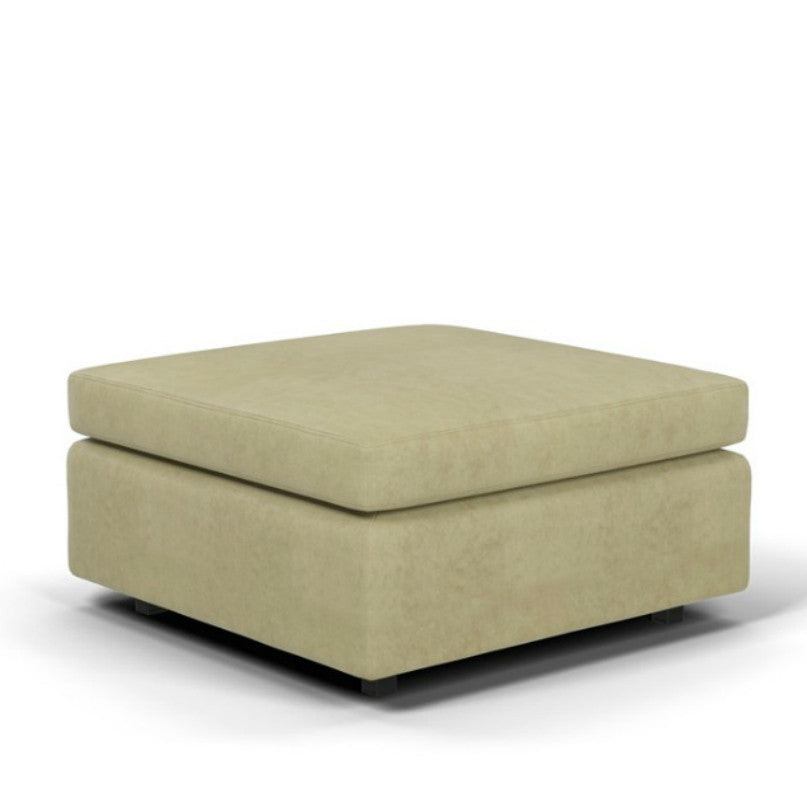 Charles Pfister Ottoman Ultrasuede Wheat Knoll