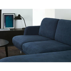 Fritz Hansen Lune Sofa with Chaise Lounge in Indigo by Jaime Hayon in Room