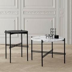GUBI Gam Fratesi TS Cofee Tables Black and White Marble