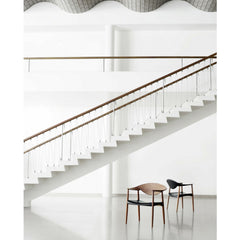 LM92T Metropolitan Chairs by Larsen and Bender Madsen in Room with Stairs Carl Hansen & Son