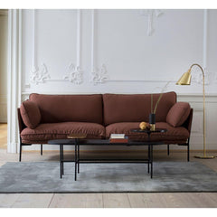 AJ7 Bellevue Floor Lamp in room with Cloud Sofa and Palette Coffee Table &Tradition Copenhagen