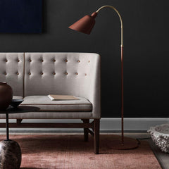 AJ7 Bellevue Floor Lamp in room with Arne Jacobsen Mayor Sofa &Tradition Copenhagen