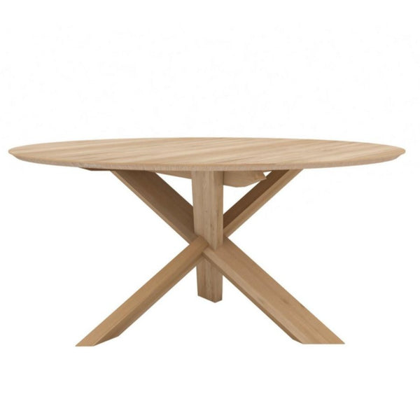 Oak Circle Dining Table Ethnicraft Palette Amp Parlor
