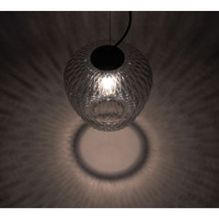 And tradition SW4 Blown Pendant by Samuel Wilkinson Quilted Light Shadow