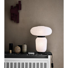 And Tradition JH18 Formakami Table Lamp by Jaime Hayon styled in room with Vases