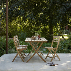 Selandia Chairs and Selandia Table 147 by Skagerak